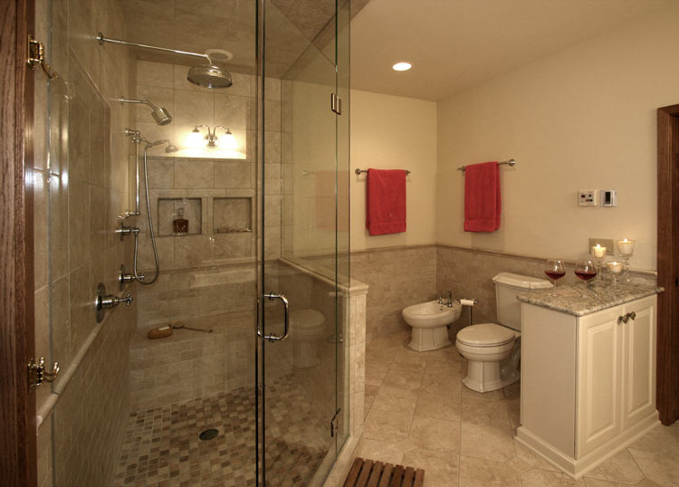 Mequon master bathroom mcs millard construction for Bathroom remodel milwaukee